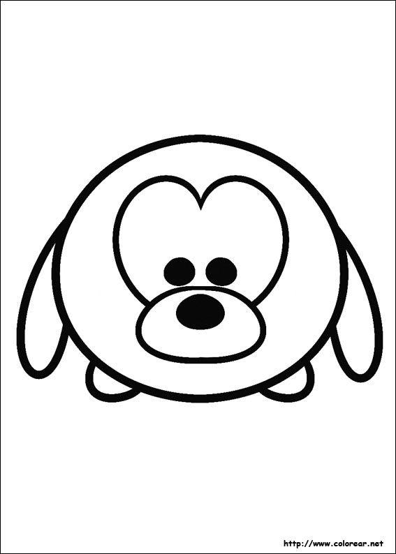 Dibujo de para imprimir ! | tsum tsum | Tsum tsum coloring pages ...