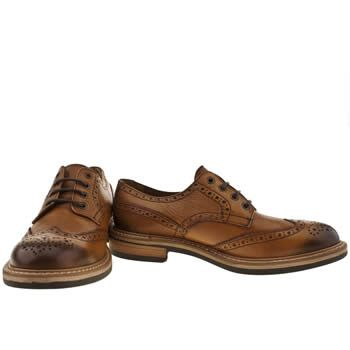 For Women Tan Red Mens Or Dead Mr Renton Brogue Shoes Tan Shoes