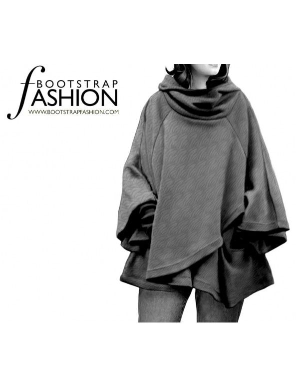made to measure Sewing Patterns - Cape With A Hood | ponchos ...