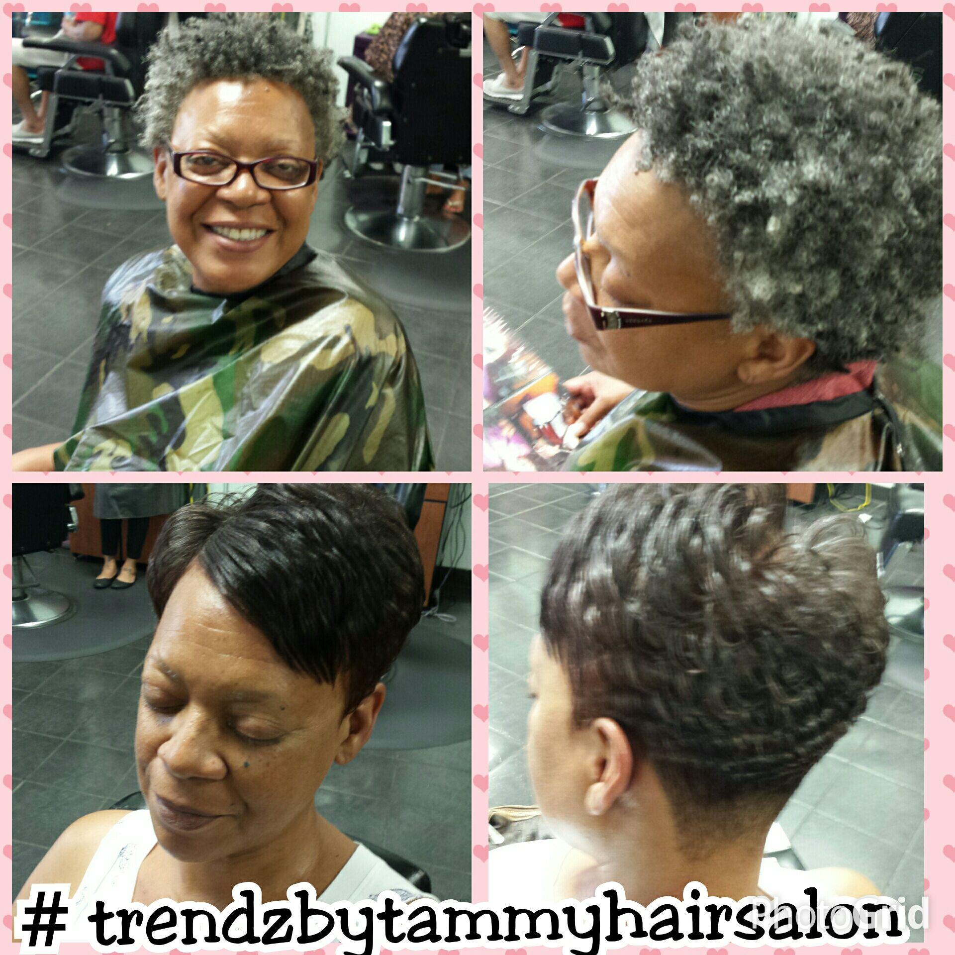 short haircut makeover at Trendz by Tammy Hair Salon Houston