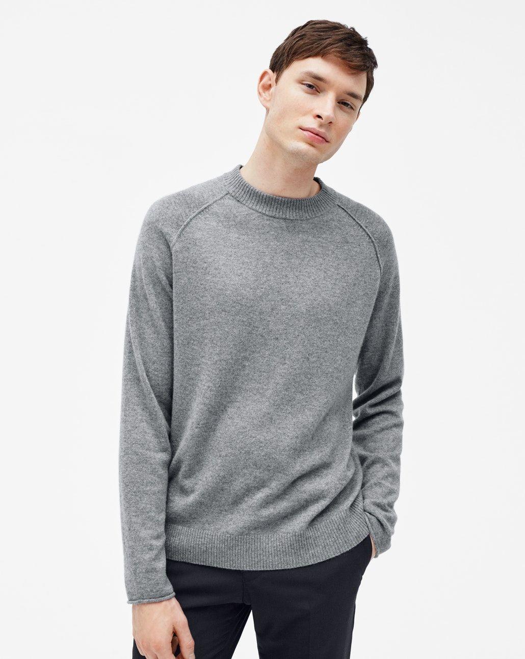 Cashmere Sweater Grey Melange Sweaters Man Filippa K