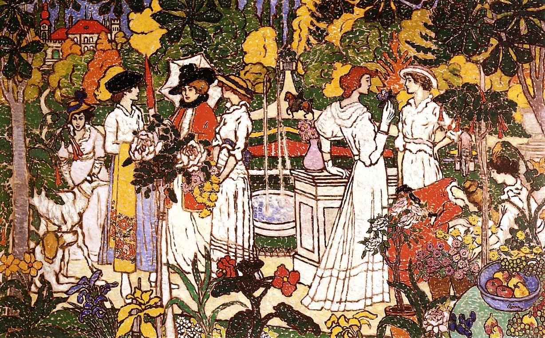 Women In A Garden Jozsef Rippl Ronai 1898 Eva S Blog Art Painting Art Reproductions