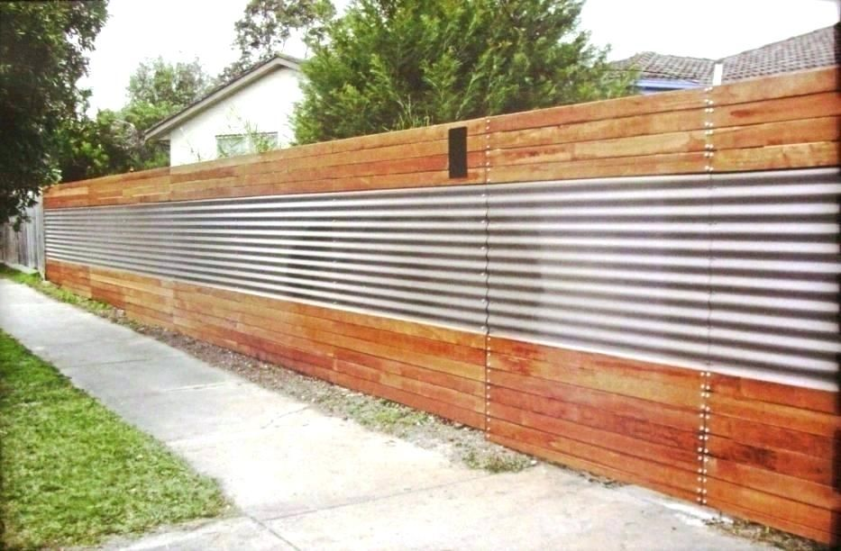Corrugated Metal Fence Pros And Cons Ducksdailyblog Fence Corrugated Metal Fence Installation Ideas Corrugated Metal Fence Metal Fence Wood Fence Design