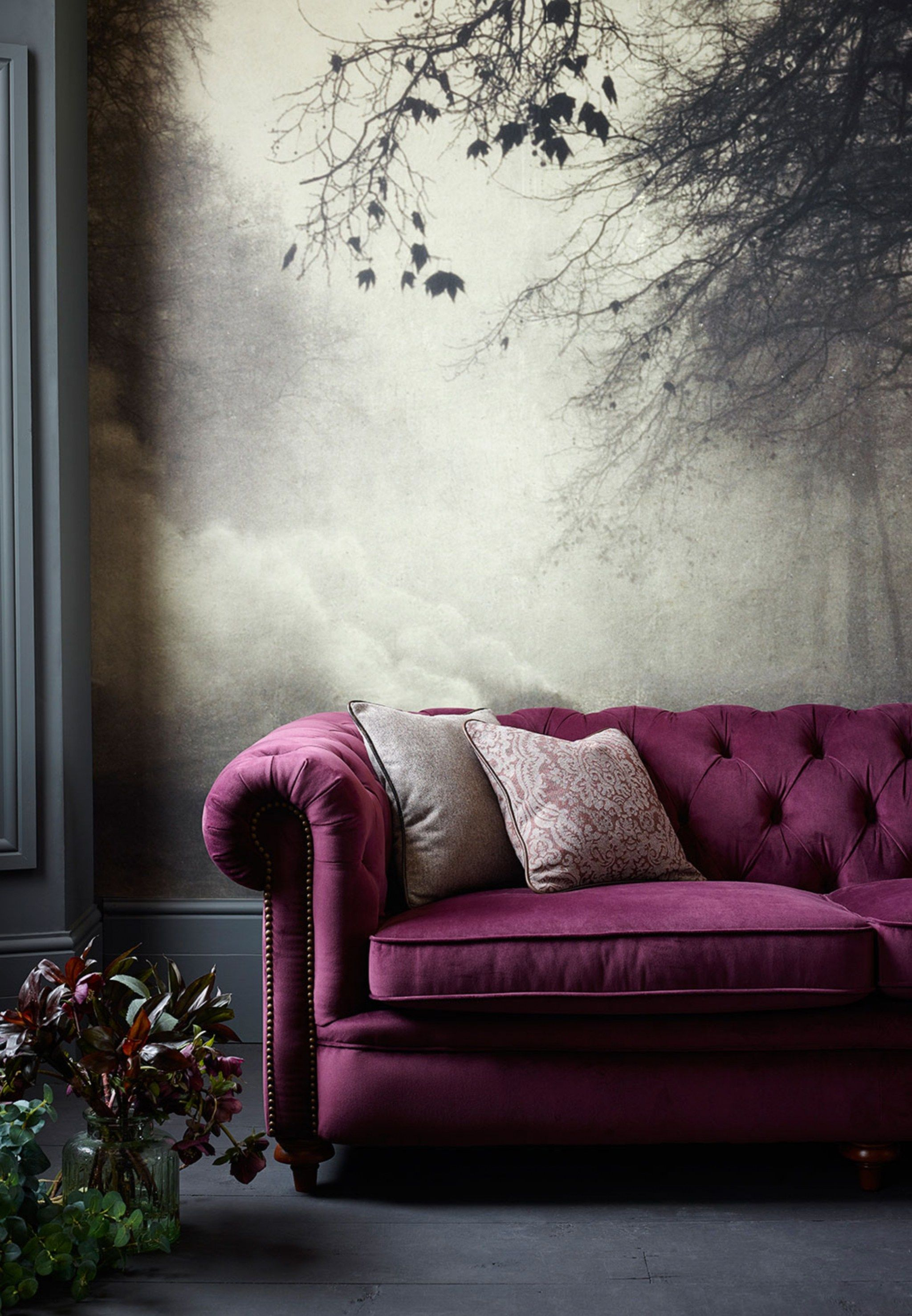 Velvet Chesterfield Sofa Interiors Furniture Our Home