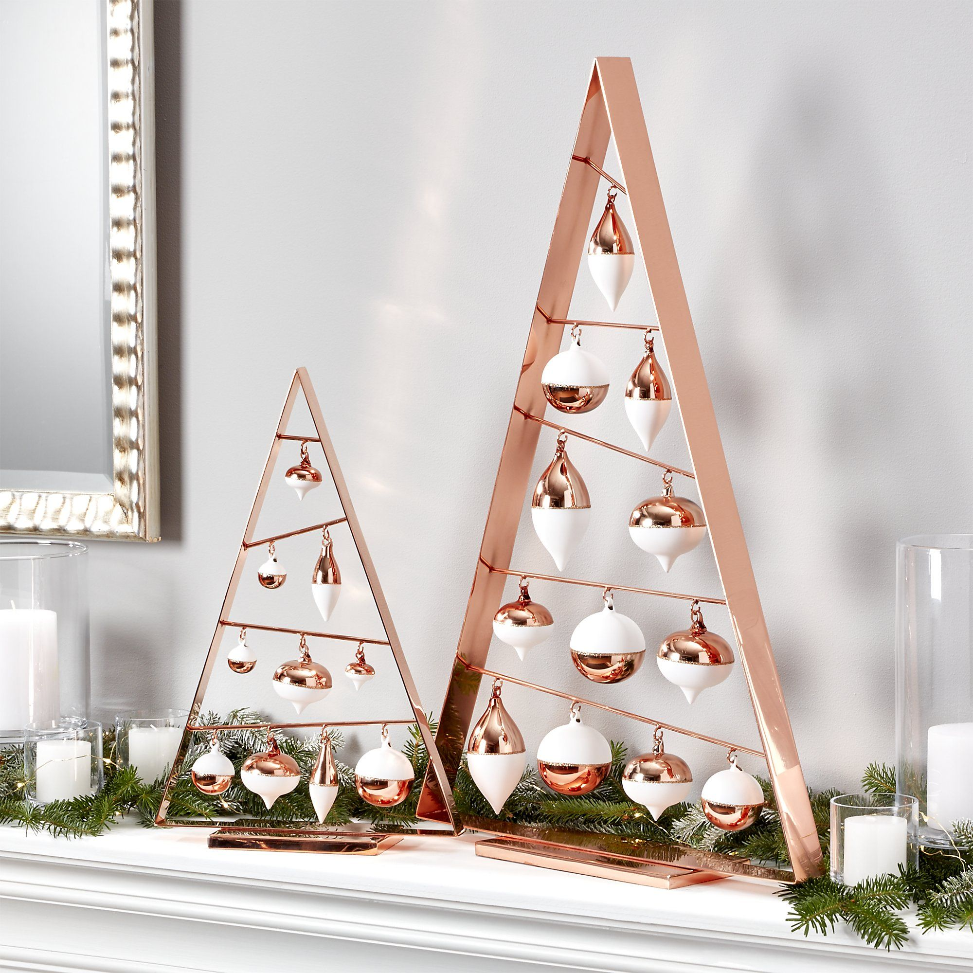 a frame copper ornament trees crate and barrel christmas crafts gold christmas ornaments. Black Bedroom Furniture Sets. Home Design Ideas