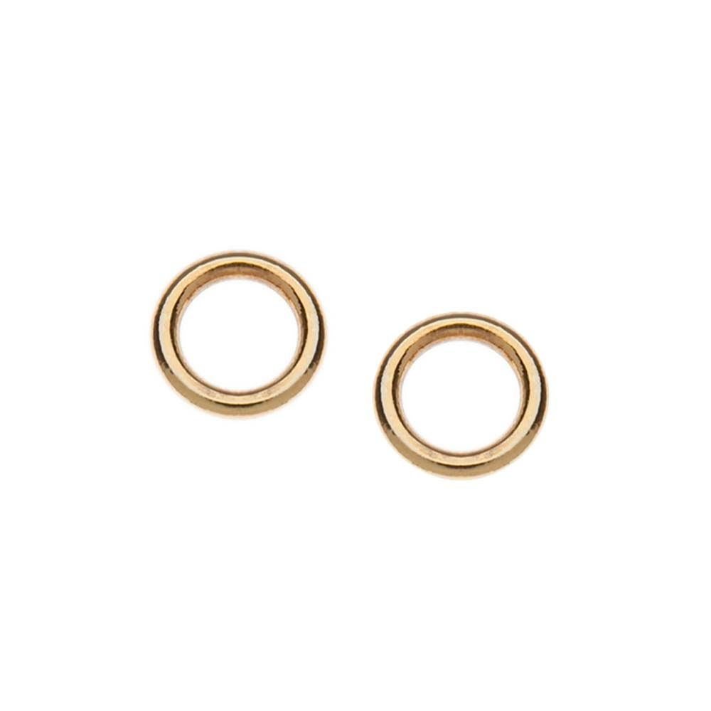 in gallery earrings shashi lyst rose pink jewelry gold normal open circle stud product