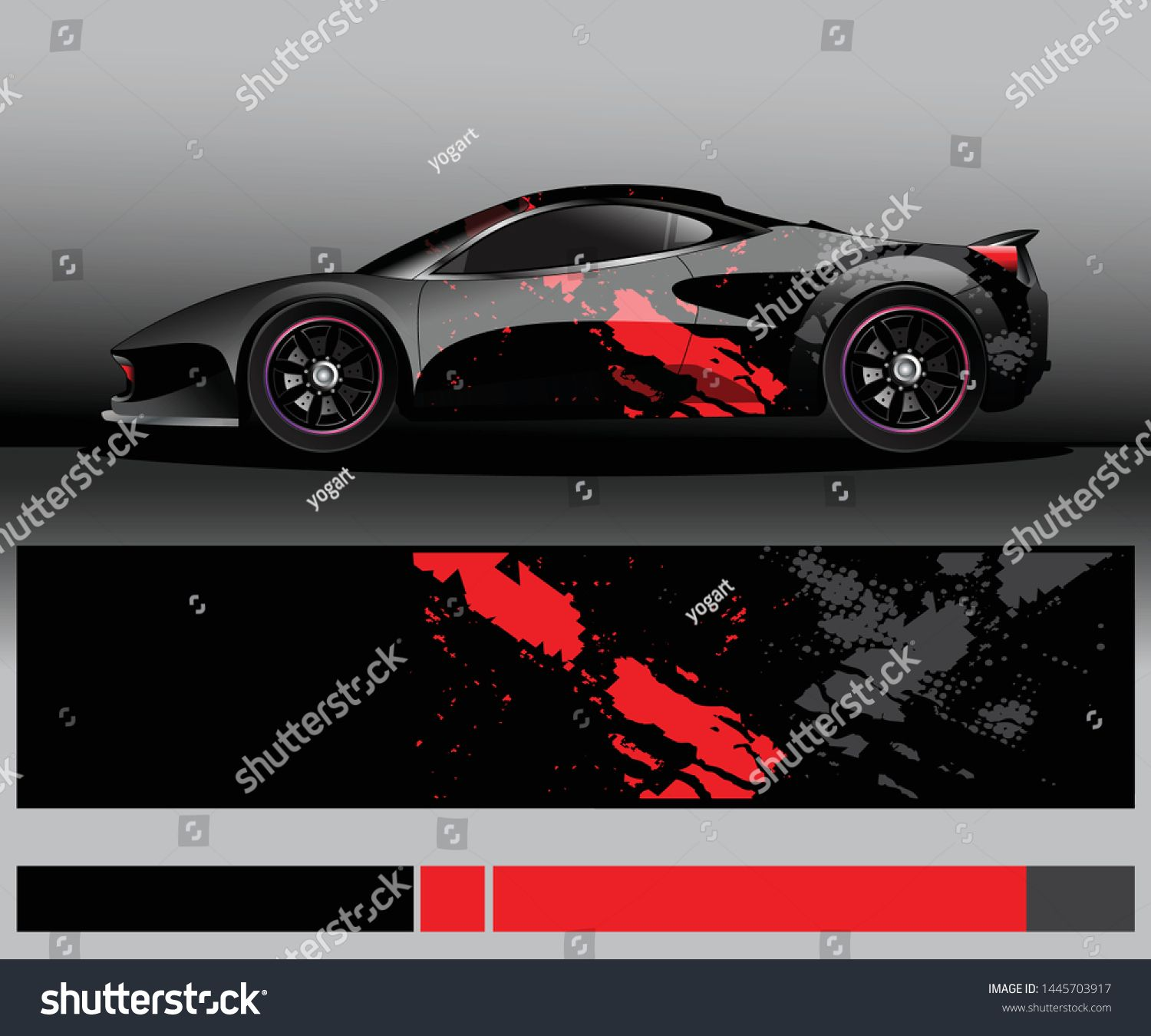 Sport Car Decal Graphic Wrap Vector Abstract Background Car Graphics Car Decals Sports Cars