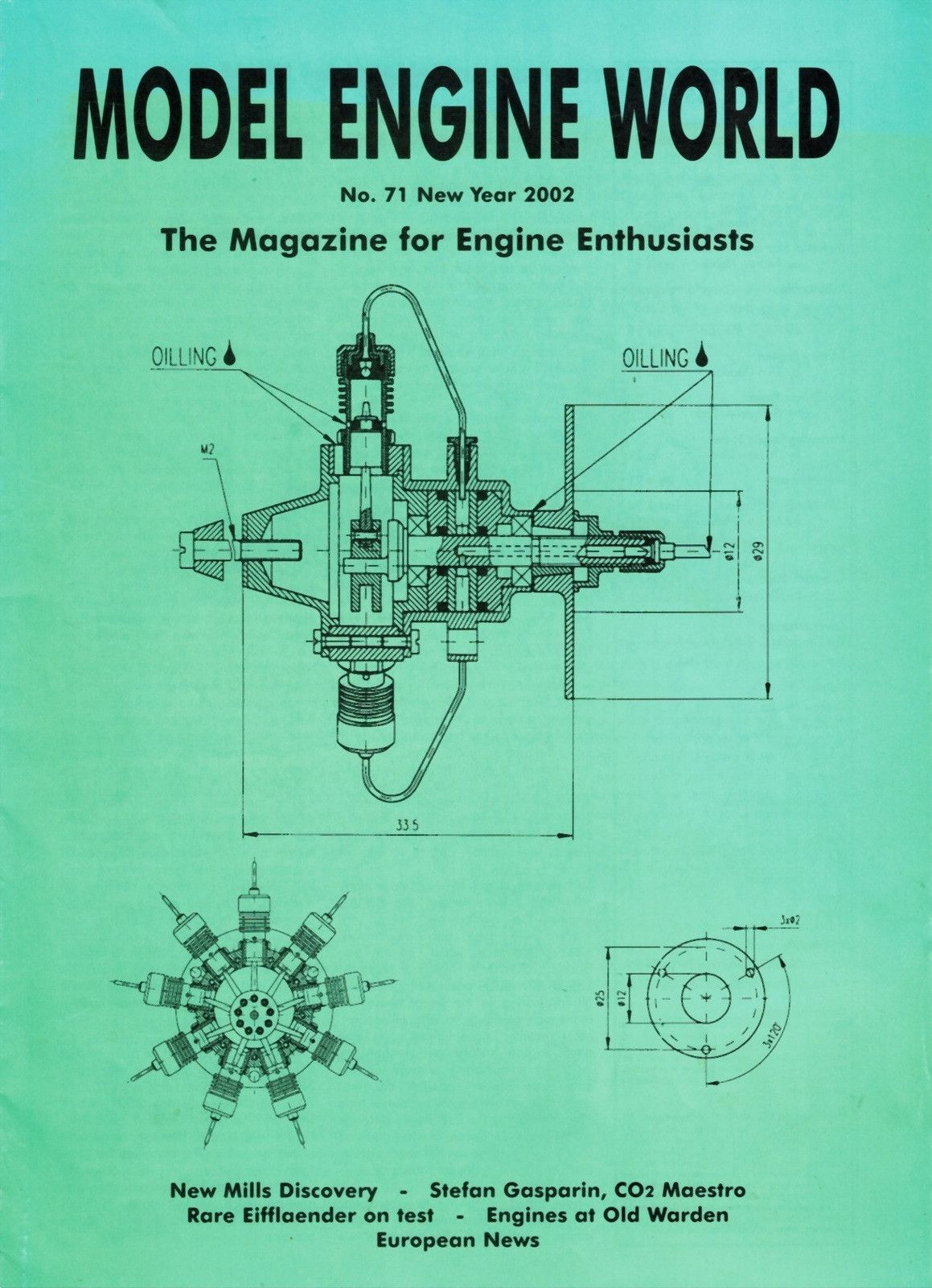 Model Engine World 2002 No 71 This Issue Includes Mills Factory Fiat Diagram Miniature Prototype Stephen Gasparin And His Jewel Like Motors Eifflaender 25cc Review Test 500 European Vo