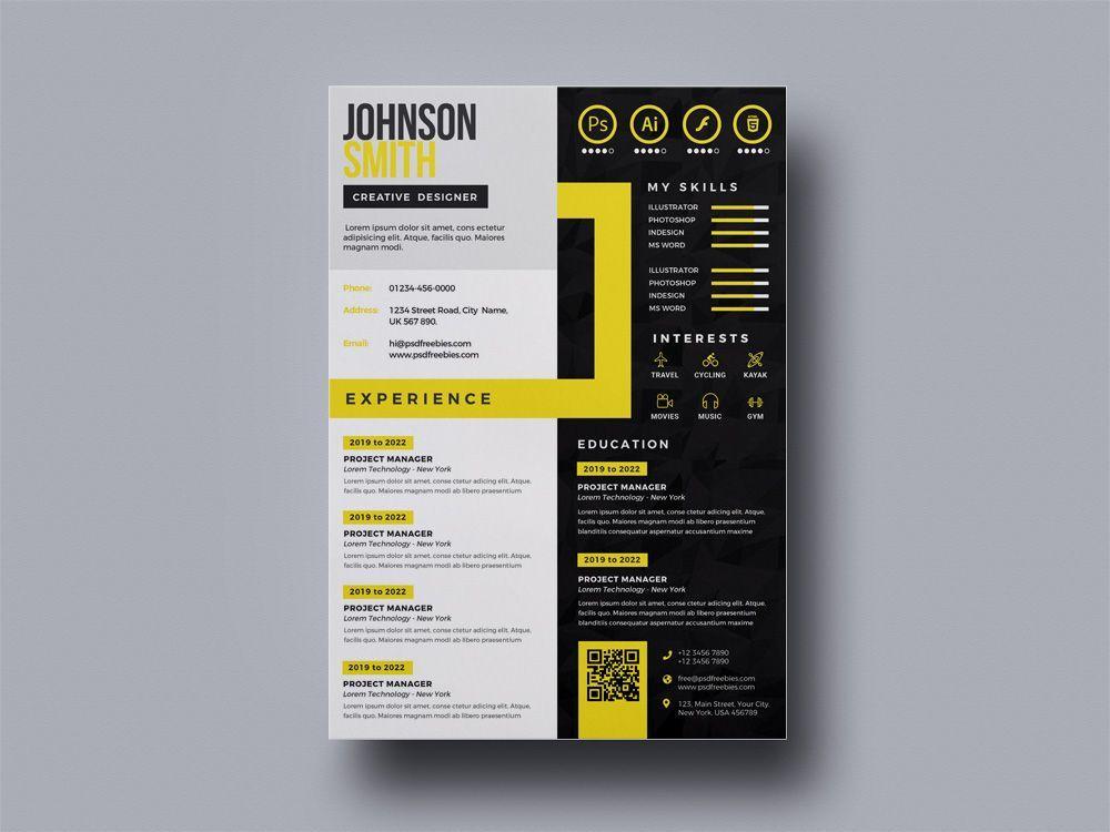 Free Multicolor Resume Template Graphic Design Resume Infographic Resume Resume Design Creative