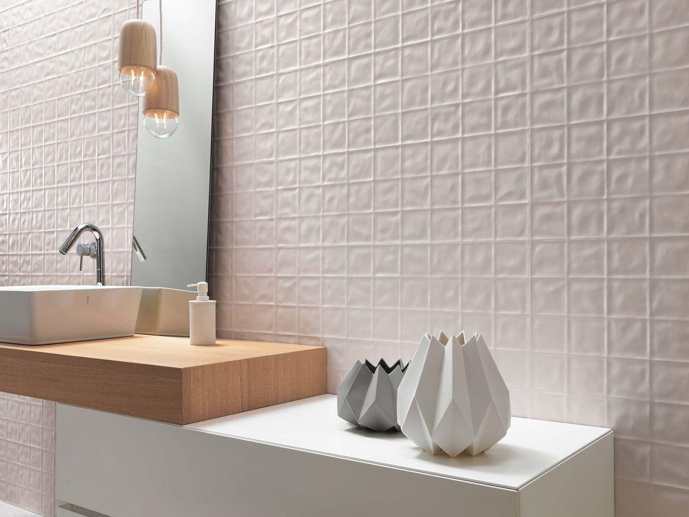 3d Decorative Bathroom Wall In White Matt Tile Used Lumina Grid 250x750 Range Tile Tile Trends Tiles