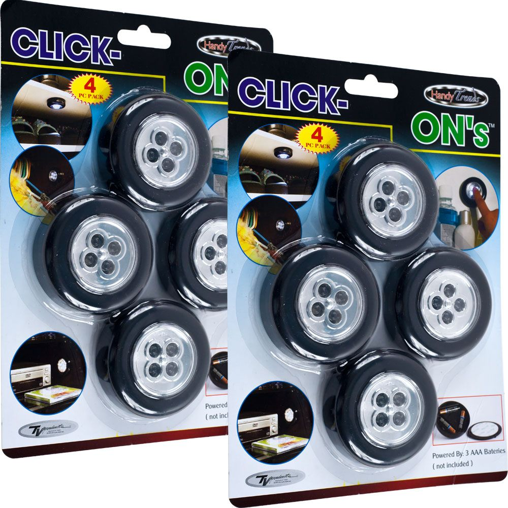 Click On Stick Up Led Lights By Super Bright Set Of 8 Ping The Best Prices Lighting Fixtures