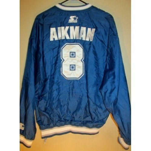 f74d26545bb Vintage Starter Troy Aikman , Dallas Cowboys pullover jacket , Large -  Football-NFL.........17% Off Using promo code :