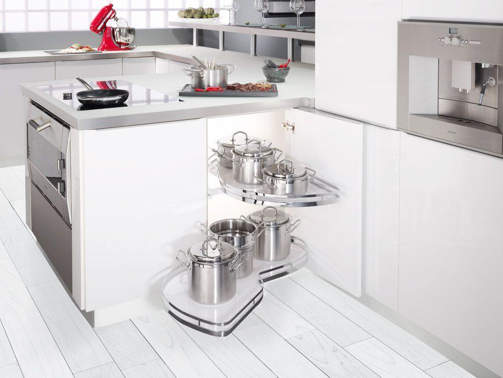 Herrajes para mueble de rincon Kesseböhmer | Almacenaje en la Cocina ...