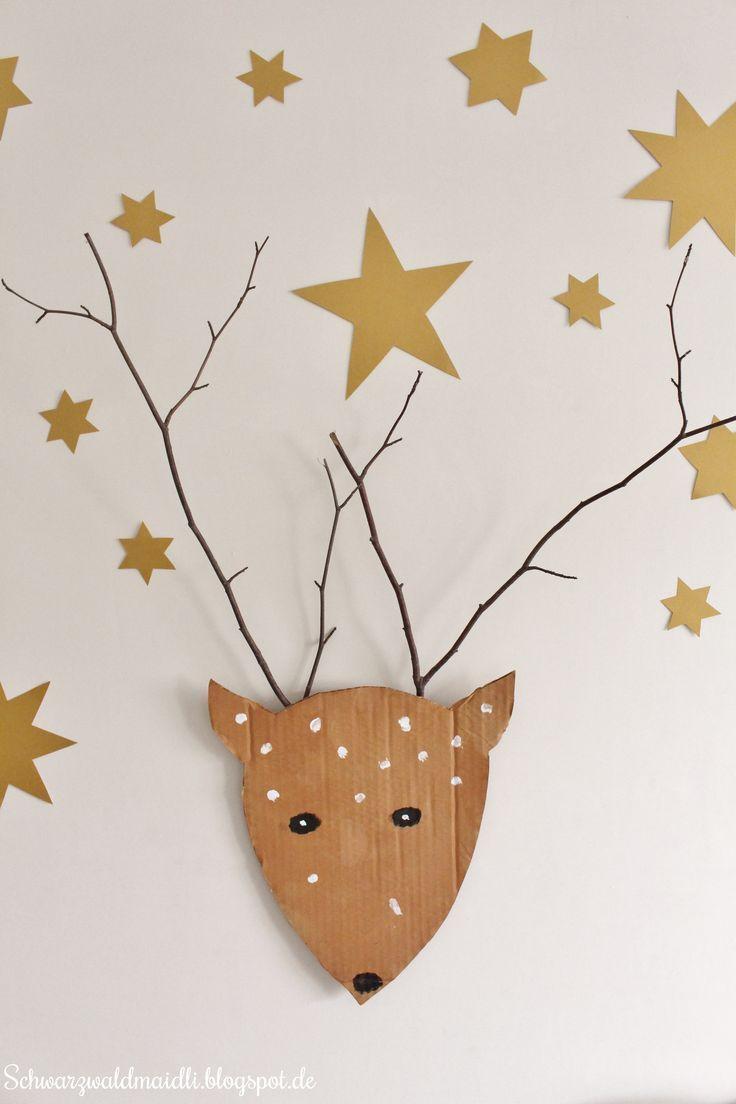 Weihnachtshirsch - Basteln mit Kindern/ Weihnachten / Weihnachtsdeko basteln #geschenkebastelnmitkindernweihnachten