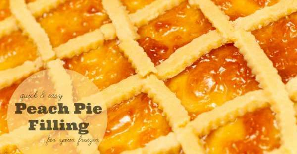 How To Make Peach Pie Filling For The Freezer