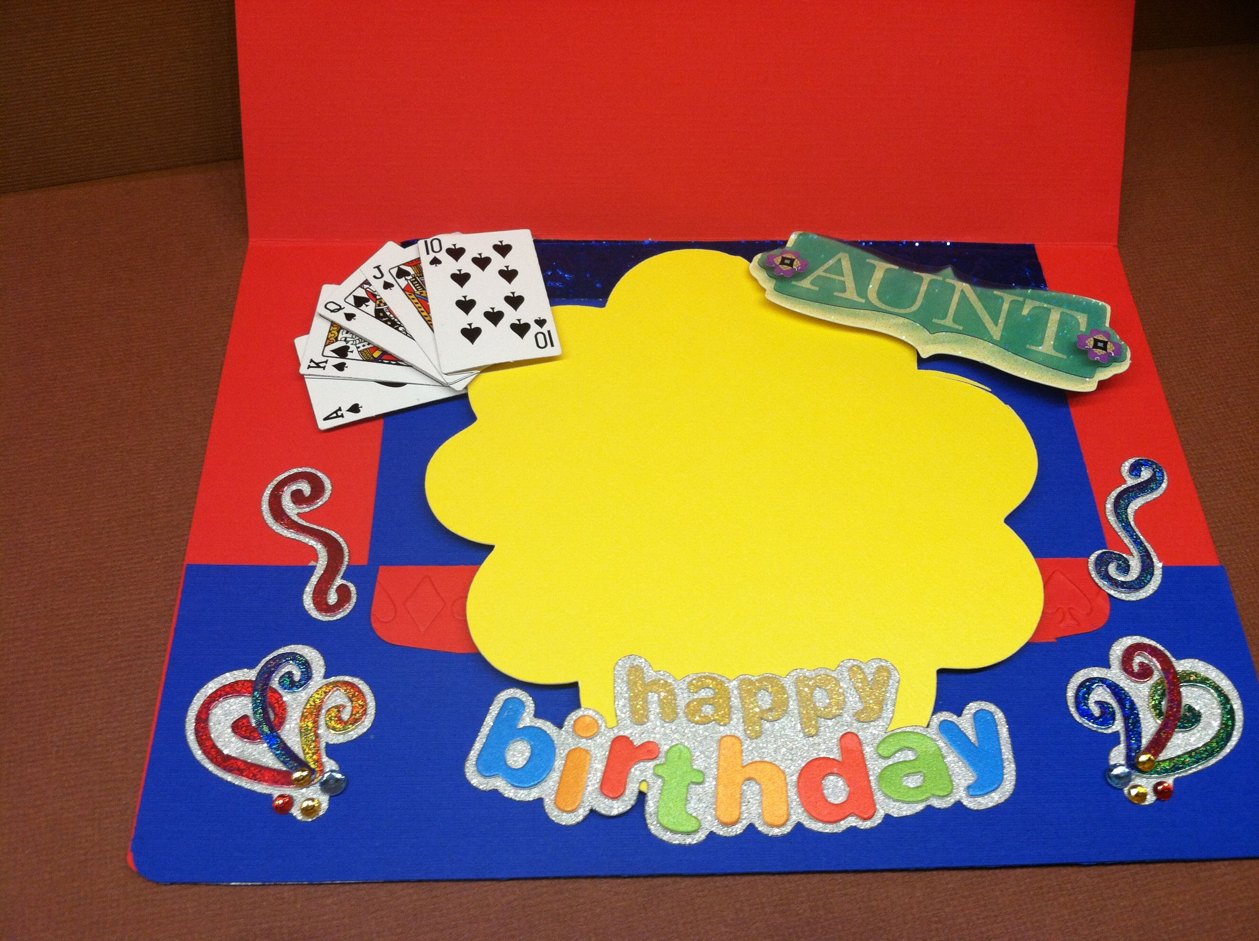 2012 Inside of Vegas birthday card for Jennifer s Aunt Made by