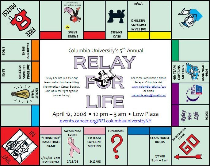 Columbia University Relay For Life  Events Calendar How About