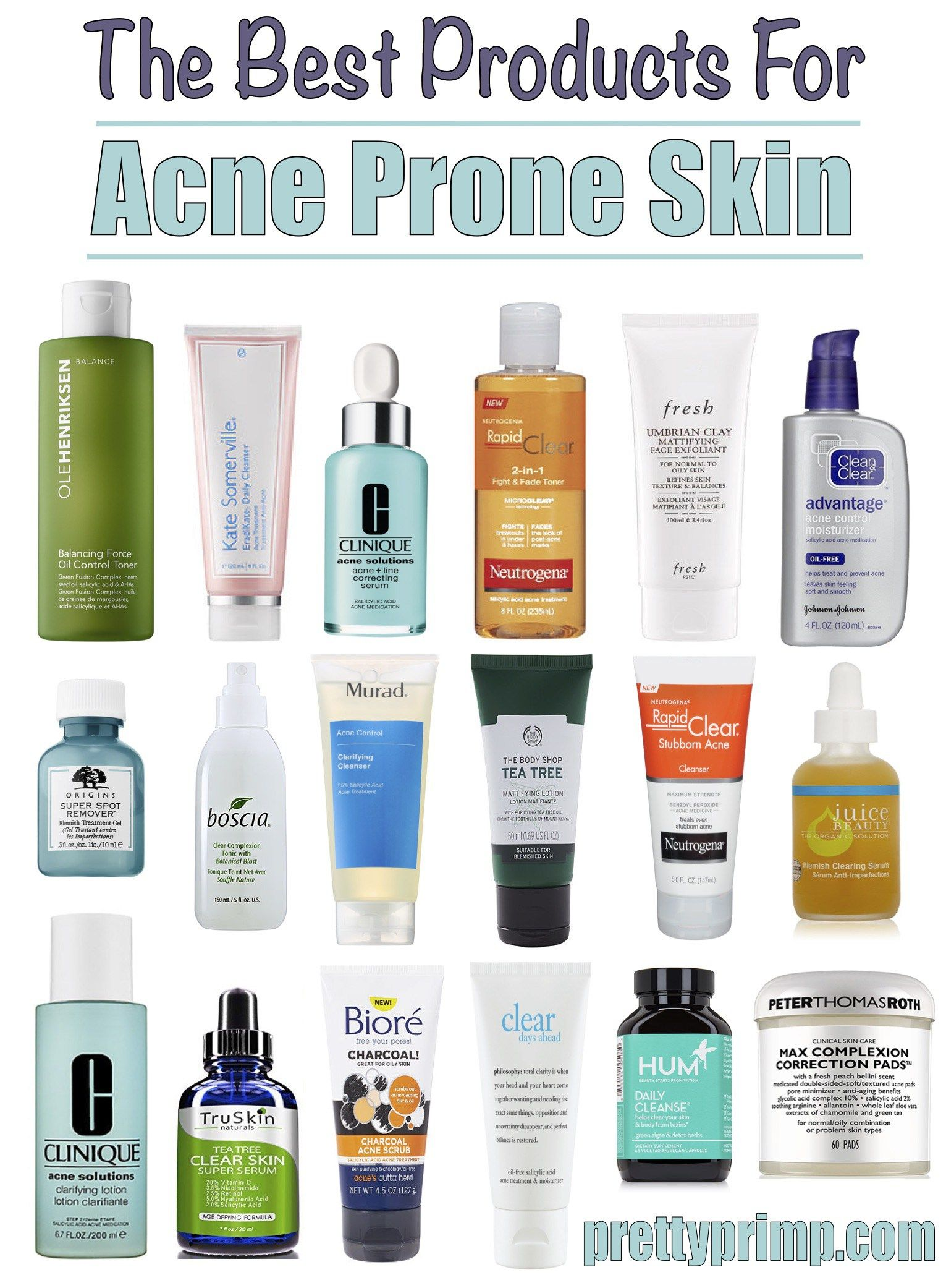 Best Products For Acne Top Acne Solutions That Will Clear Your Skin! is part of Best acne products - Few skin problems can be as much of a pain to solve as acne  Which is why we compiled the best products for acne in this post  If you control oil production, get rid of dead skin cells before they clog pores, and kill off acne causing bacteria, you are extremely likely to notice at least some improvement in your skin!