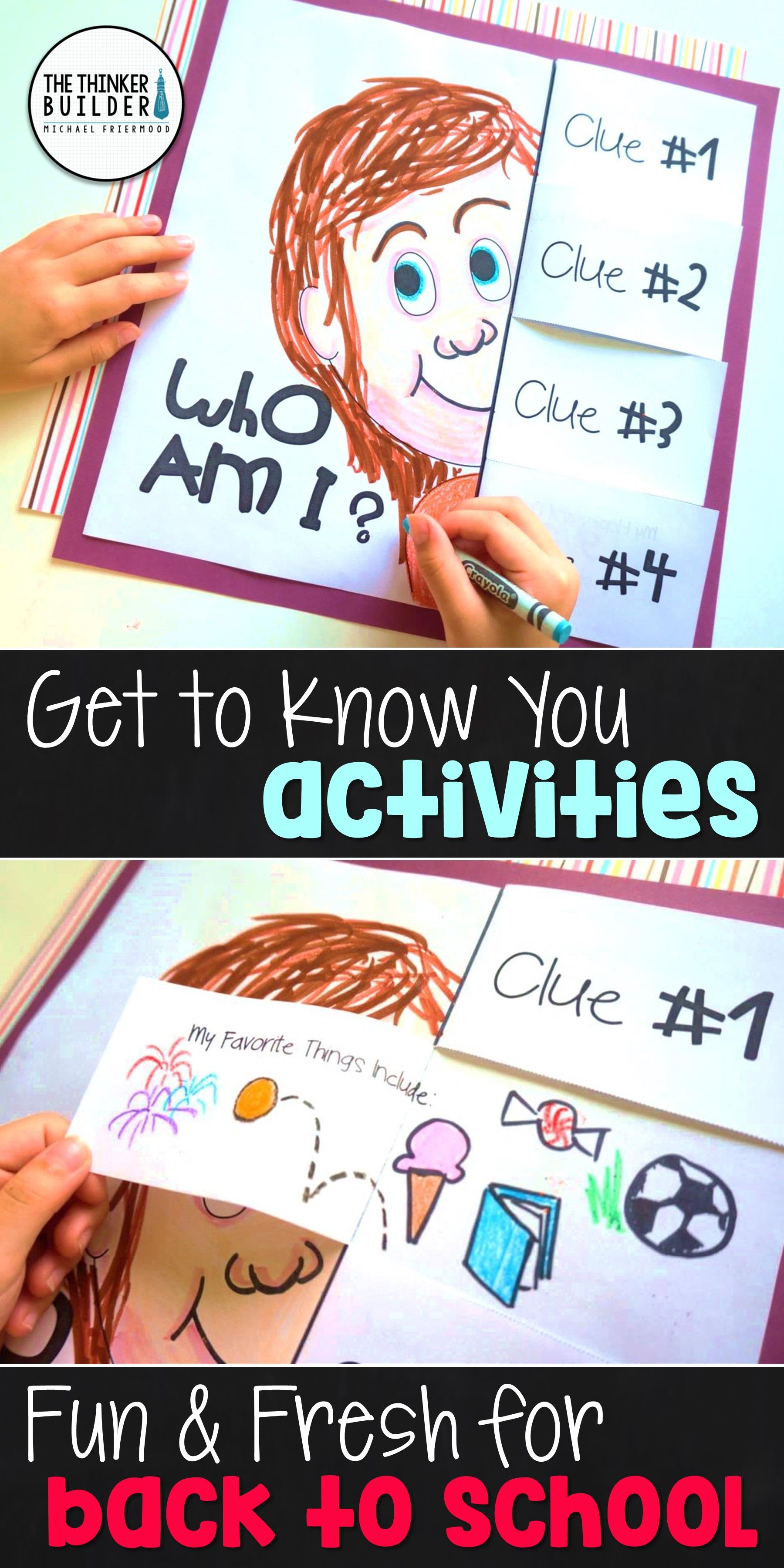 Back To School Activities Get To Know You First Week Of School