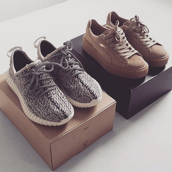 de53b86f6e51d Kanye X Adidas Yeezy 350 boost and Rih X Puma creepers Rp via  blvckd0pe by  teamxirix