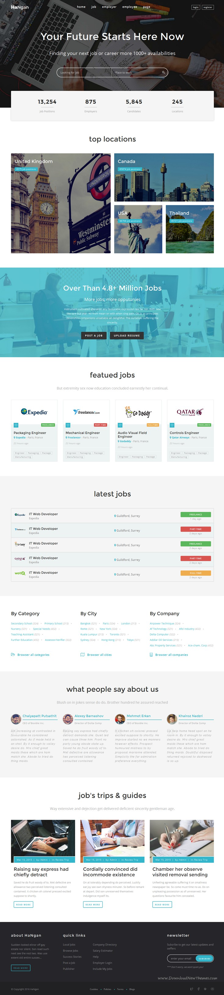 HaNgan - Job Portal Responsive HTML Template