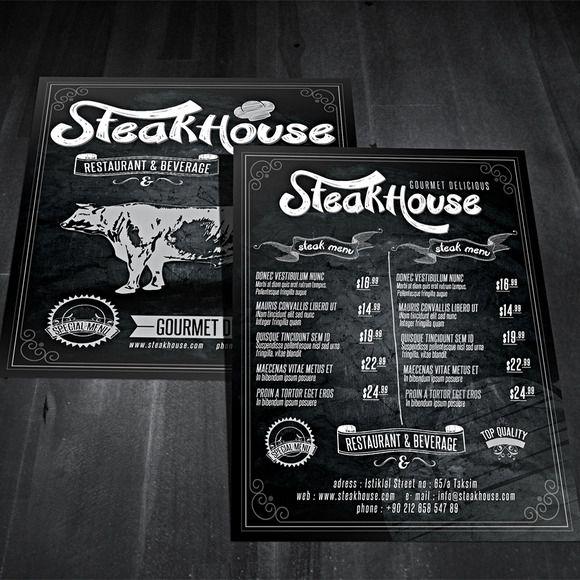 Vintage Restaurant Flyer by fatihakdemir on Creative Market ...