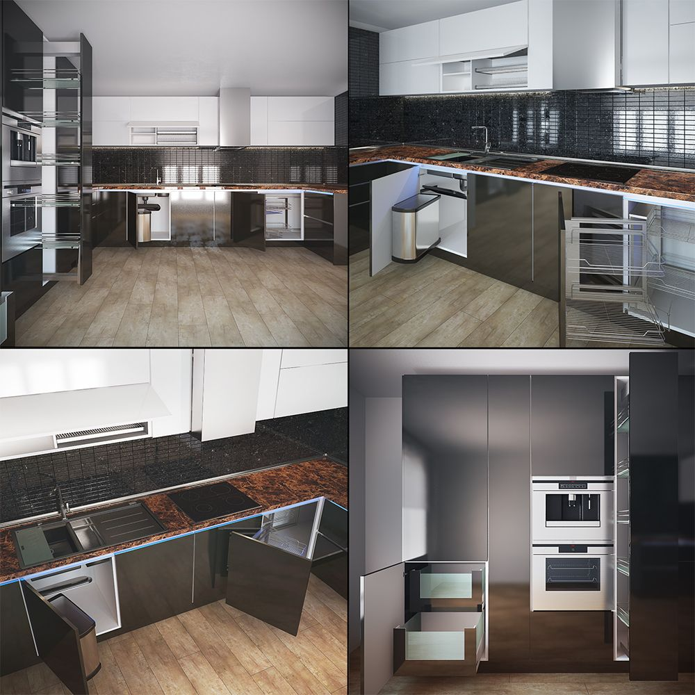 3d Model Kitchen 116 Free Dowload Kitchen Models Minimalist Kitchen Design Kitchen Decor Modern