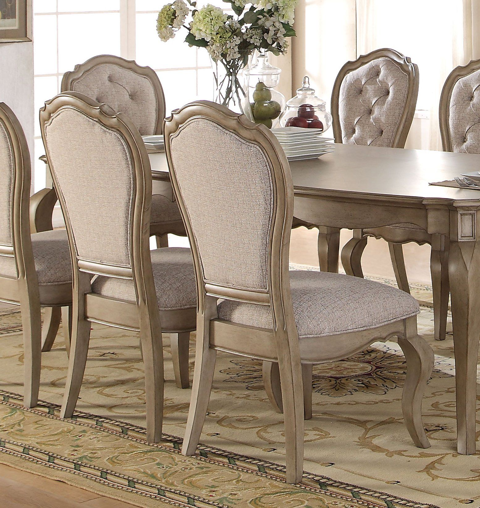 Acme Chelmsford Antique Taupe Side Chair