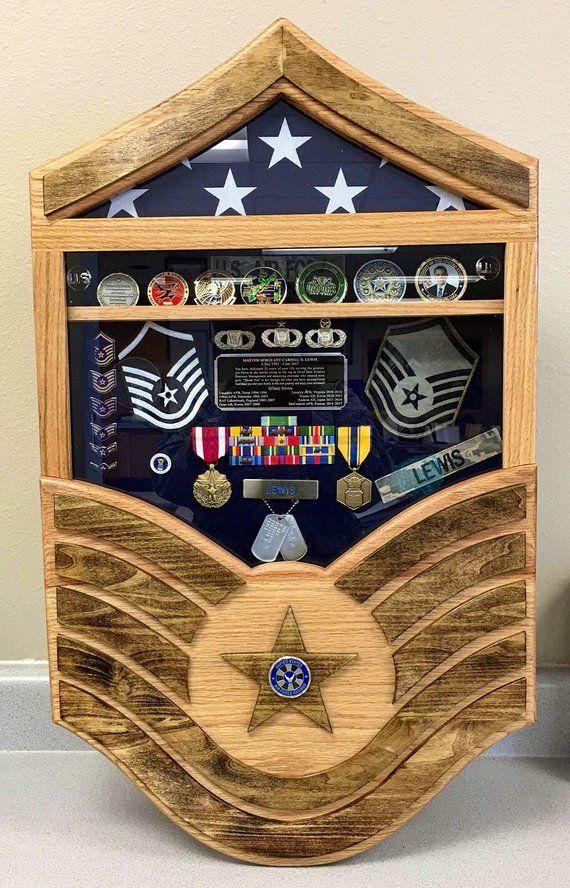 Air Force Stripes Retirement Shadow Box (medium) Super