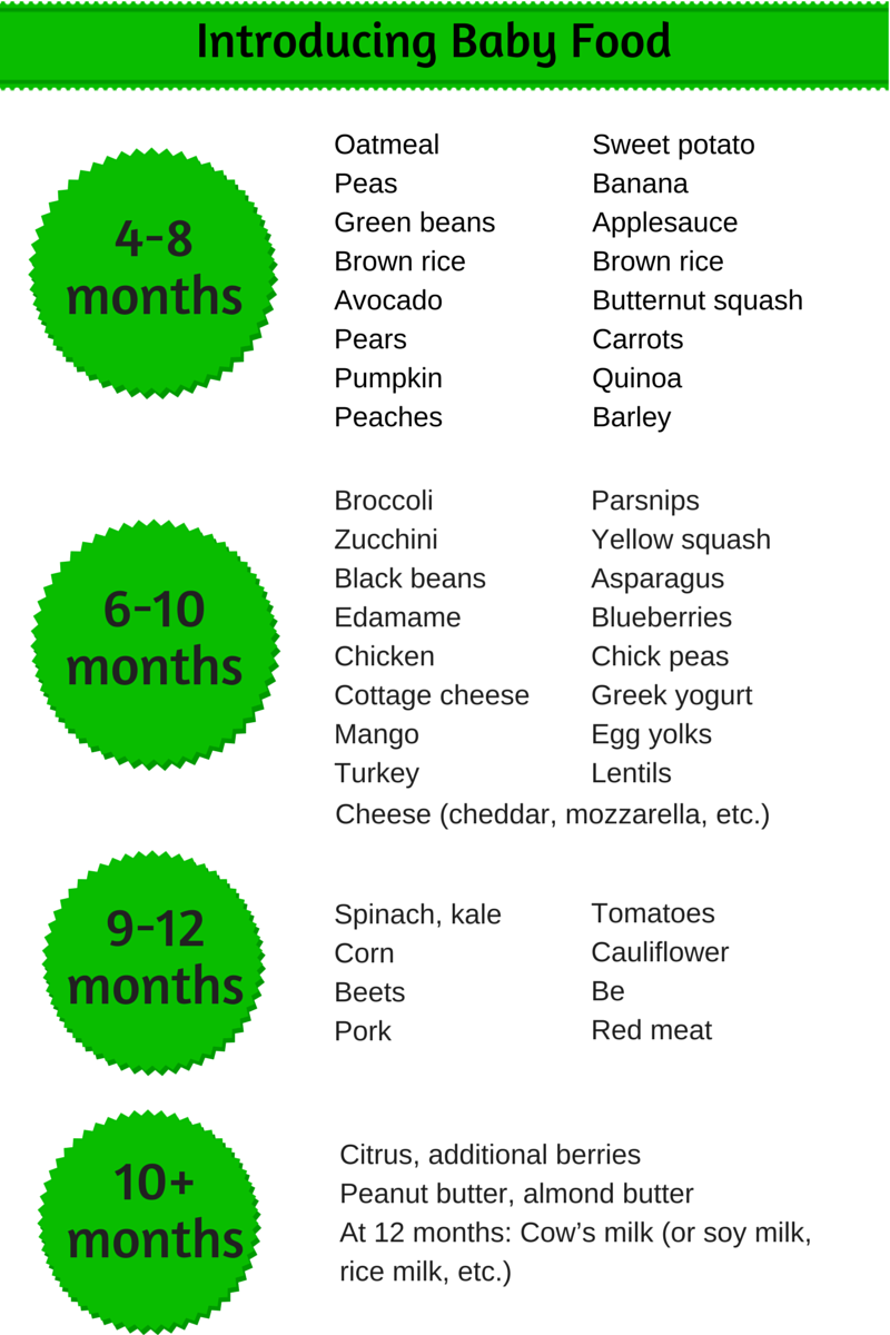 Homemade baby food introducing solids schedule is a guide ...