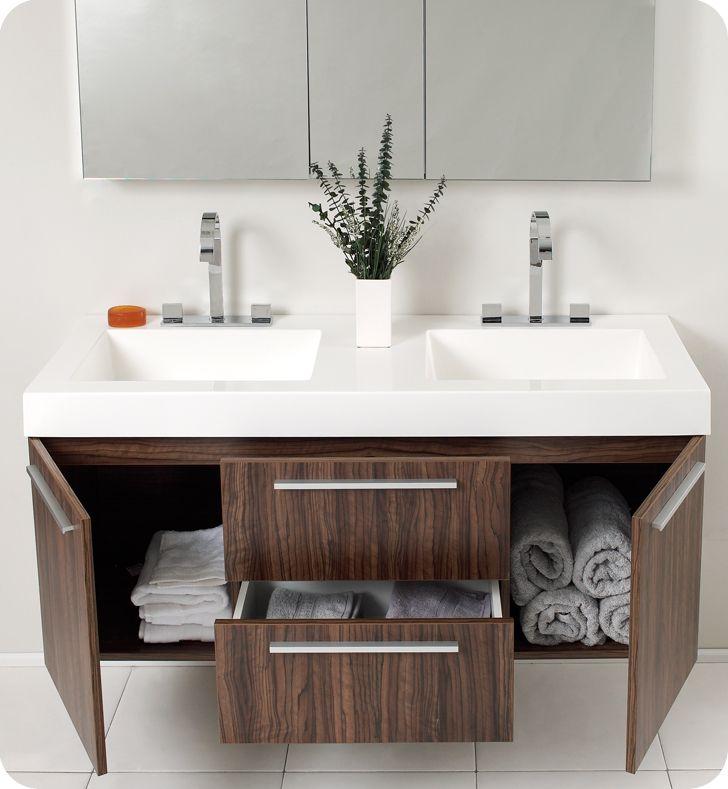 contemporary double sink vanity. 48 Inch Double Sink Bathroom Vanity  HomesFeed AZ House
