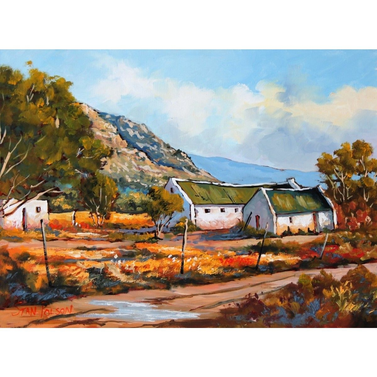 Image result for beautiful oil paintings of south african farms