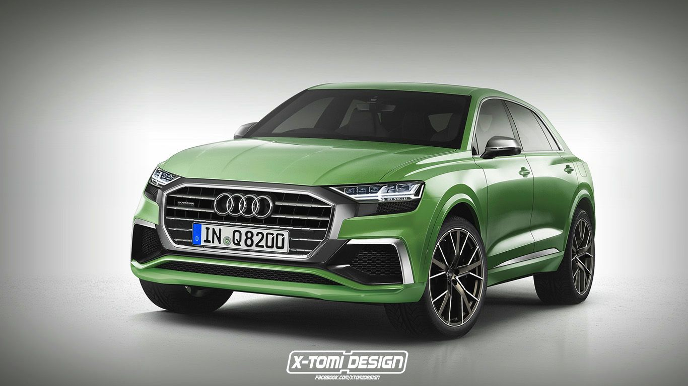 2018 audi q8 drops flashy concept parts and poses as a production rh pinterest com
