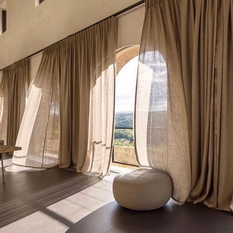 Curtain Idea No 24 Brown Sheer Curtains Made With