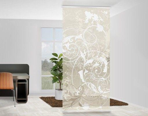 Raumteiler Vorhang - Perlmutt Ornament Design 250x120cm - schiebegardinen kurz wohnzimmer