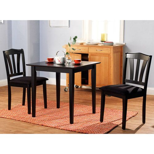 Walmart Dining Room Furniture: Metropolitan 3 Piece Dining Set, Multiple Finishes $80