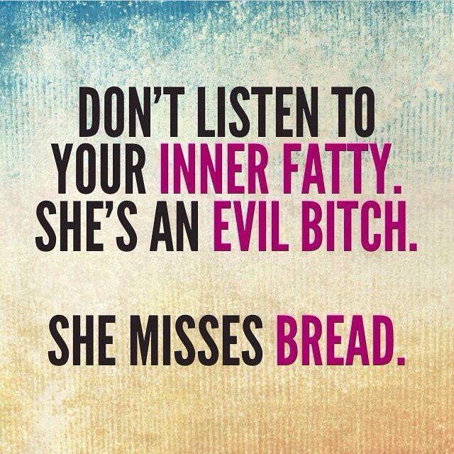 Don T Listen To Your Inner Voice Lustige Trainingszitate