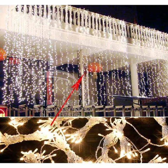 LED Curtain Fairy Lights Multi Function, 600-LED