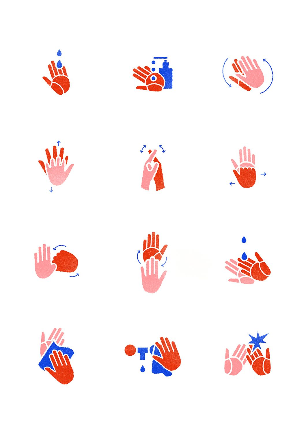Hand Washing Instructions On Behance Agafranke Ilustracje