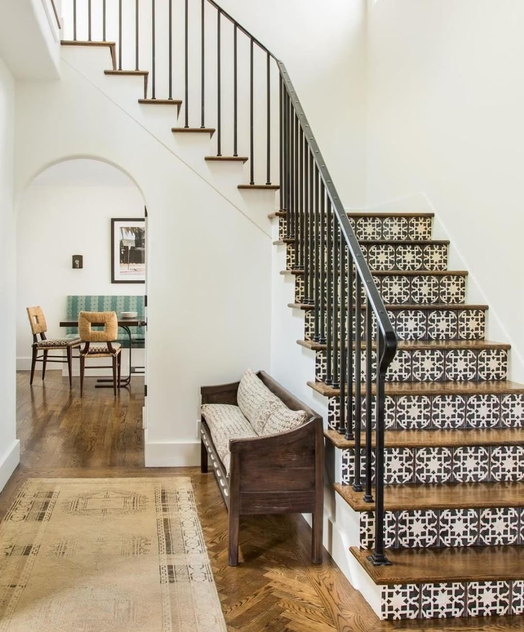 Home interior design staircase pin by beth kluhspies on stairs u railings in   pinterest