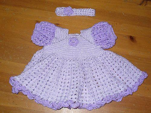 Free Crochet Ruffled Baby Dress Pattern Crochet Babychildren