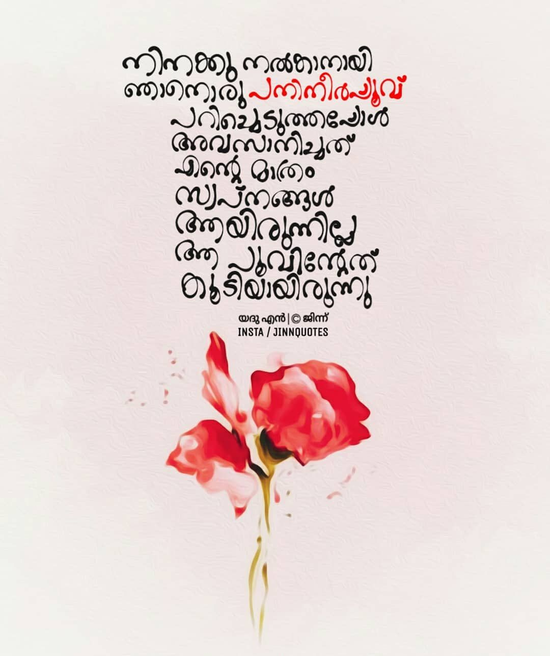 Image May Contain Flower And Plant Malayalam Quotes Quotes Feelings