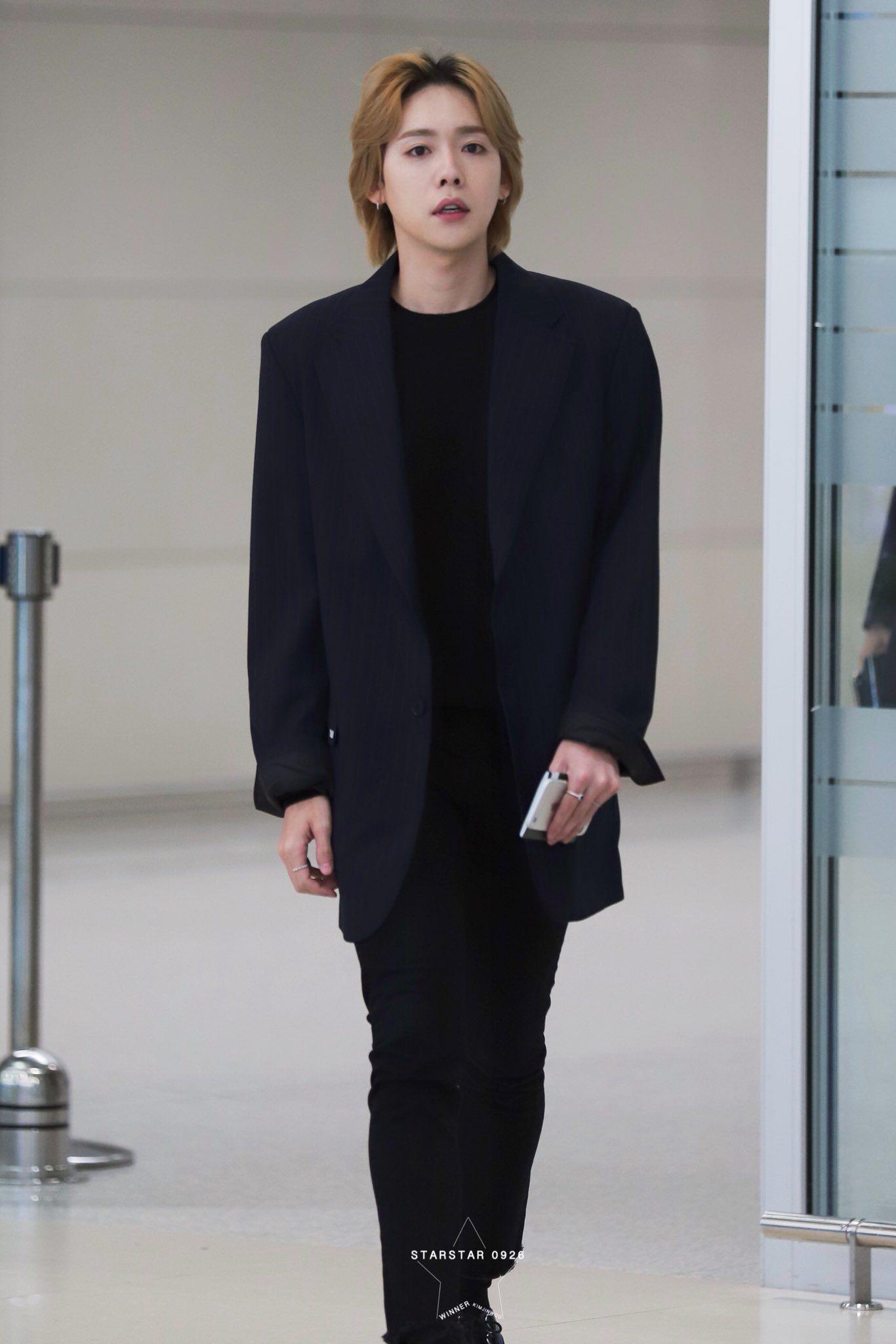 Starstar0926 On Winner Jinwoo Fashion Airport Style