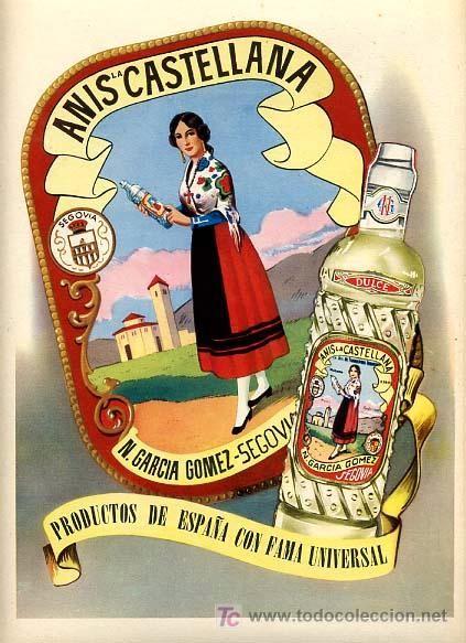 Cartel publicidad anis castellana segovia mz 27 carteles pinterest vintage ads and - Carteles retro ...