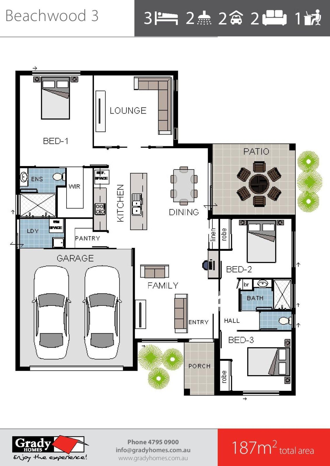 beachwood-3a-grady-homes-floor-plan-brochure-2 | Floor ...