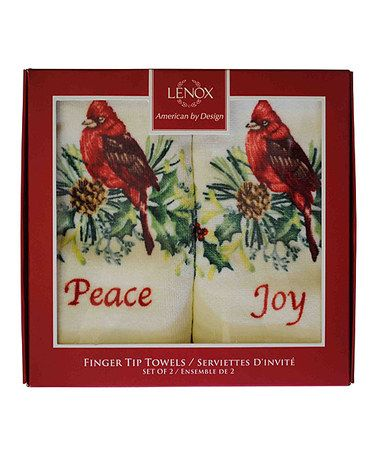 Loving this Red Two-Piece Peace & Joy Fingertip Towel Set on #zulily…