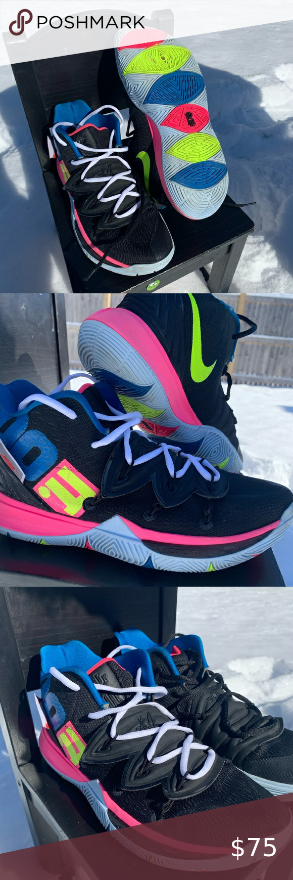 kyrie 5 JUST DO IT in 2020 Grey nikes, Nike kyrie, Left shoe