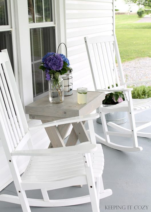 Keeping It Cozy Rocking Chair Porch Porch Chairs House With Porch