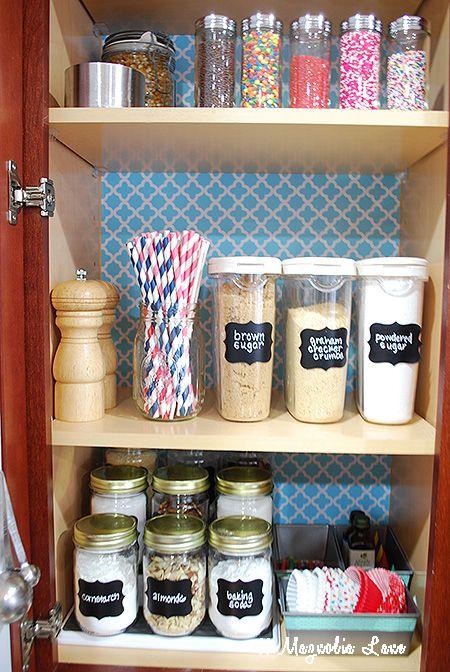 Organized Baking Cabinet Using Baking Supplies One Smart