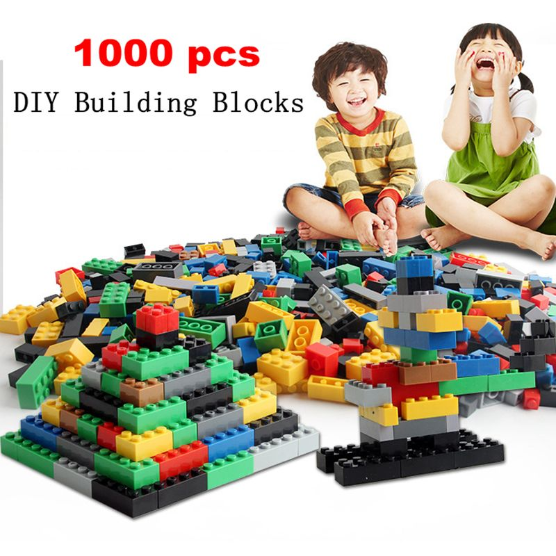 1000 PCs Building Blocks Bricks Set Bulk Creative Kids Toys Educational DIY Gift
